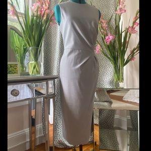 Max Mara grey sleeveless work dress